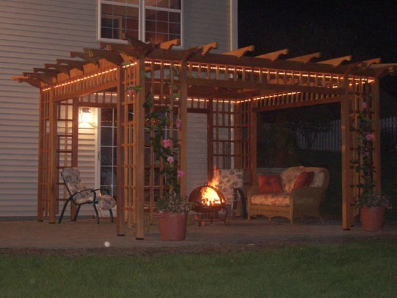 Diy pergola plans attached house wooden pdf chair side for Design your own pergola